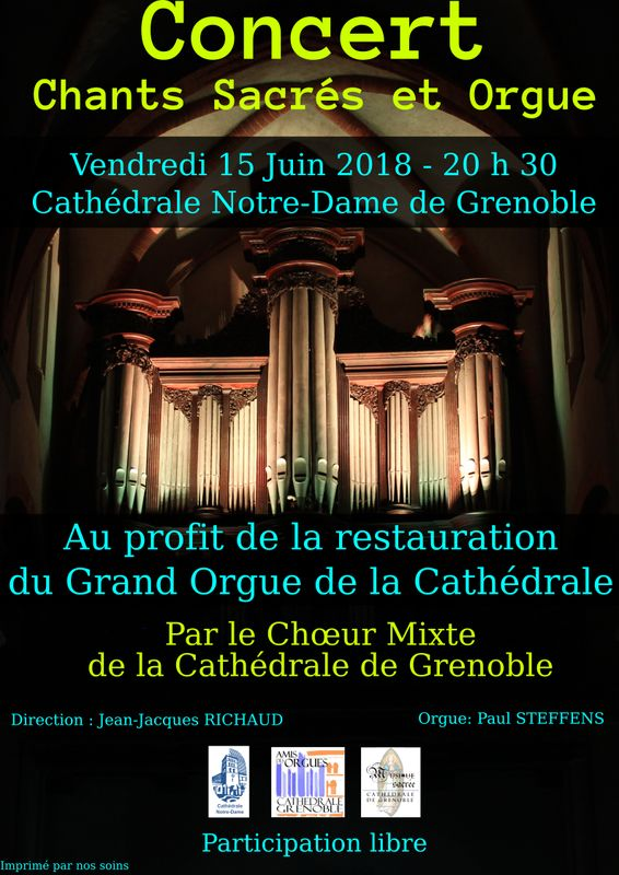 Affiche 15 juin 2018 cathedrale