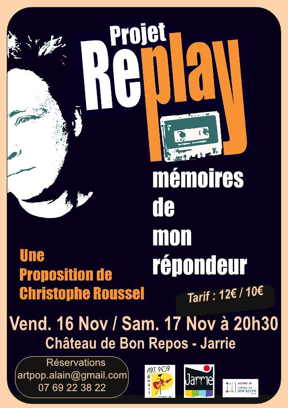 Projet Replay flyer 11 2018